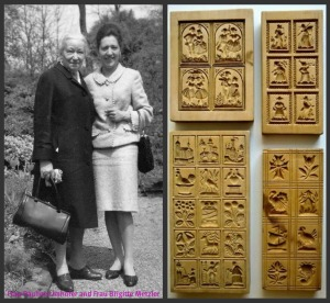Frau Pauline Umhofer and Frau Brigitte Metzler and their Molds.