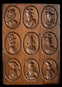The original wooden Probst Family Cameo Mold