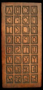 The Stolz family original wooden ABC Board