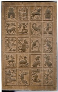 The original wooden Fischer Family mold.