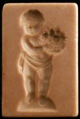 #1525 Baby with Flower Bouquet Mold - $32.00