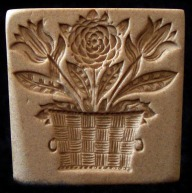 #1807 Carnation and Tulips Flower Basket Mold - $18.95