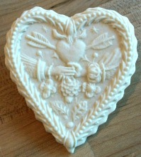 Cookie made with Heart Mold #1841